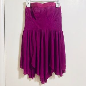Jewel Toned Free People Bustier Strapless Top SM